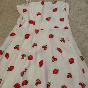 F21 strawberry dress